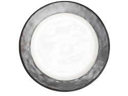 Juliska Emerson Round Dinner Plate White-Pewter