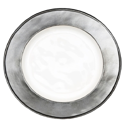 Juliska Emerson Round Side Plate White-Pewter