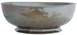 Juliska Pewter Ceramic Stoneware Large Serving Bowl