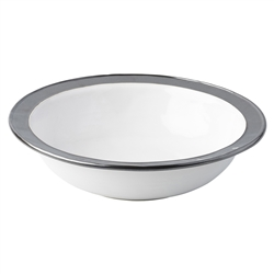 "Juliska Emerson White/Pewter 13"" Serving Bowl"