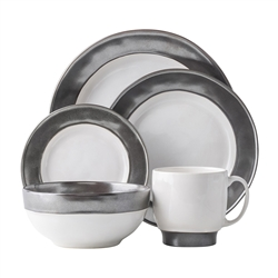 Juliska Emerson White/Pewter 5pc Place Setting
