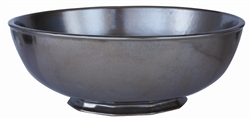 Juliska Pewter Ceramic Stoneware Medium Serving Bowl