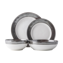 Juliska Emerson White/Pewter 4pc Place Setting