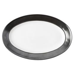 "Juliska Emerson White/Pewter 15"" Platter"