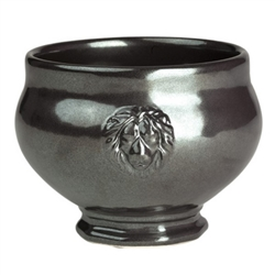 Juliska Pewter Ceramic Stoneware Footed Soup Bowl