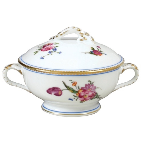 Bernardaud A La Reine Gravy Boat With Cover