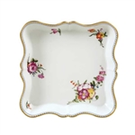 Bernardaud A La Reine Square Scalloped Tray