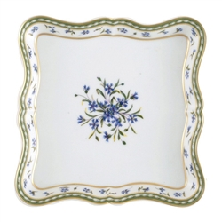 Bernardaud Marie Antoinette Square Scalloped Tray