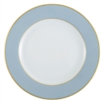 Bernardaud Elysee Service Plate Solid Light Blue Rim