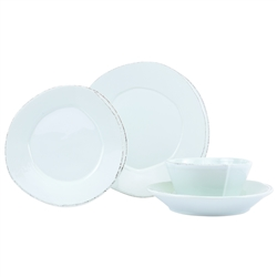 Vietri Lastra Aqua Four-Piece Place Setting