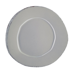 Vietri Lastra Light Gray Dinner Plate - LAS-2600LG