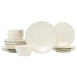 Vietri Lastra Linen 16Pc Dinnerware Service for 4