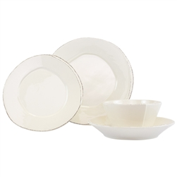 Vietri Lastra Linen 4-Pc Dinnerware Service for One