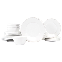 Vietri Lastra White Sixteen-Piece Service for 4 - LAS-2600WS-16