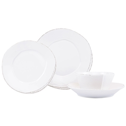 Vietri Lastra White Four-Piece Place Setting - LAS-2600WS-4