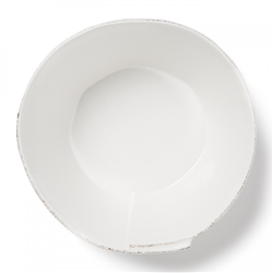 Vietri Lastra White Large Stacking Serving Bowl