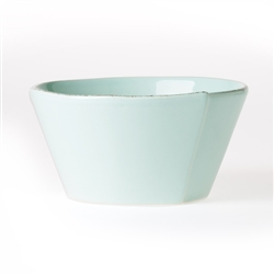 Vietri Lastra Aqua Stacking Cereal Bowl