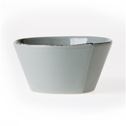 Vietri Lastra Gray Stacking Cereal Bowl