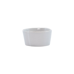 Vietri Lastra Light Gray Condiment Bowl - LAS-2603LG