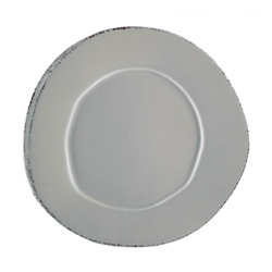 Vietri Lastra Gray European Dinner Plate