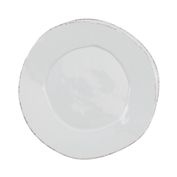Vietri Lastra Light Gray European Dinner Plate - LAS-2606LG