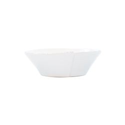 Vietri Lastra White Small Oval Bowl - LAS-2607W