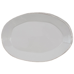 Vietri Lastra Light Gray Oval Platter - LAS-2626LG