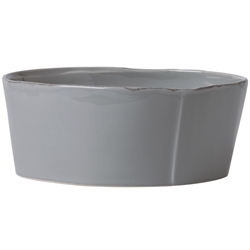 Vietri Lastra Gray Large Serving Bowl