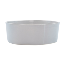 Vietri Lastra Light Gray Large Serving Bowl - LAS-2632LG