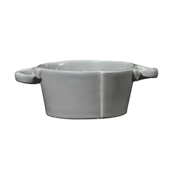 Vietri Lastra Gray Small Handled Bowl