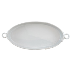 Vietri Lastra Light Gray Handled Oval Baker - LAS-2655LG
