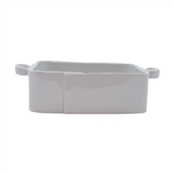 Vietri Lastra Light Gray Square Baker - LAS-2657LG