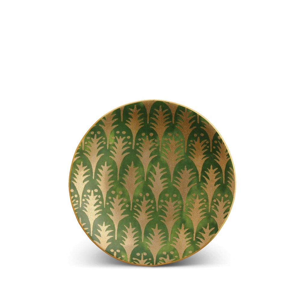 L'objet Fortuny Canape Plates Piumette Green Set/4