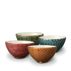 L'objet Fortuny Cereal Bowls Set/4 Assorted Colors