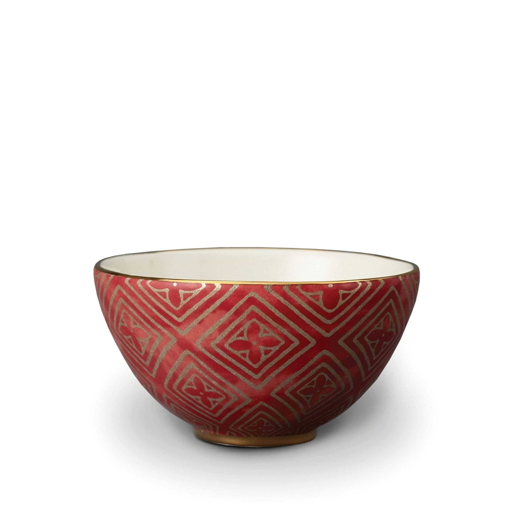 L'objet Fortuny Cereal Bowls Jupon Red Set/4