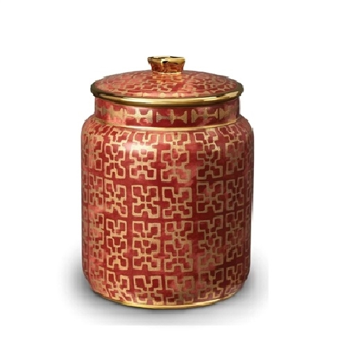 L'objet Fortuny Canister Ashanti Red - Small