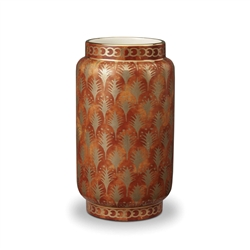 L'objet Fortuny Vase Piumette Orange Medium
