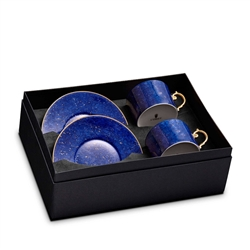 L'Objet Lapis Tea Cup + Saucer Gift Box of 2