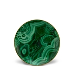 L'Objet Malachite Dessert Plate Set of 4