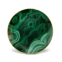 L'Objet Malachite Canape Plate Set of 4