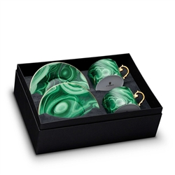 L'Objet Malachite Tea Cup and Saucer Gift Box Set of 2