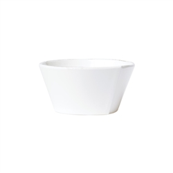 Vietri Melamine Lastra White Stacking Cereal Bowl - MLAS-W2302