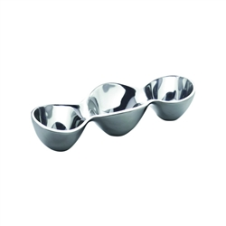 Nambe Triple Condiment Server