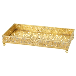 Olivia Riegel Gold Windsor Guest Towel Holder - Chelsea Gifts