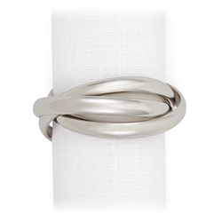 L'Objet Three Platinum Napkin Rings Set of 4