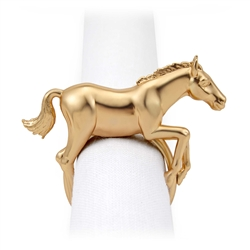 L'Objet Napkin Jewels Gold Horse