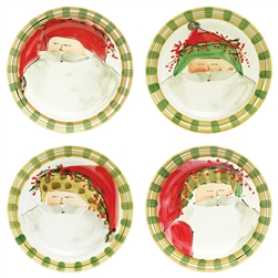 Vietri Old St Nick Assorted Dinner Plates - Set of 4 - OSN-7800