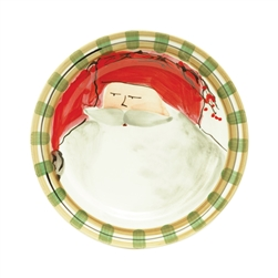 Vietri Old St Nick Dinner Plate - Red - OSN-7800A