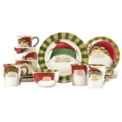 Vietri Old St. Nick Assorted Sixteen-Piece Service for 4 - OSN-7800AS-16