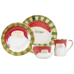 Vietri Old St. Nick Red Hat Four-Piece Service for One - OSN-7800AS-4